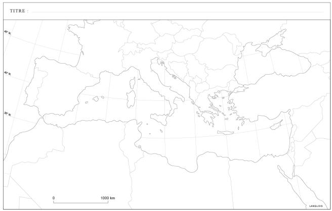 L'espace méditerranéen (fond de carte)