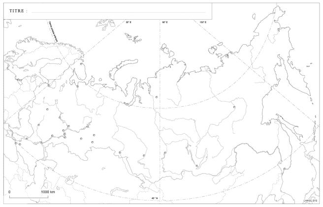 Un fond de carte de la Russie