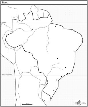 carte brésil vierge bac Les fonds de carte « officiels » du programme de terminale L ES