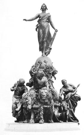Jules Dalou, Le Triomphe de la République, La Revue de l'art ancien et moderne, 1900 (face)