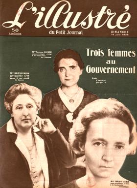 « Trois femmes au gouvernement », L'illustré du Petit Journal, 14 juin 1936