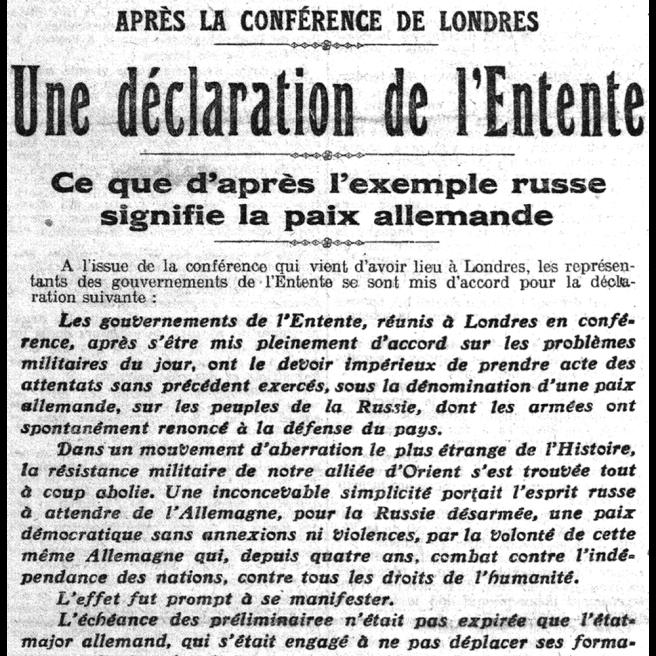 Le Petit Parisien, 19 mars 1918