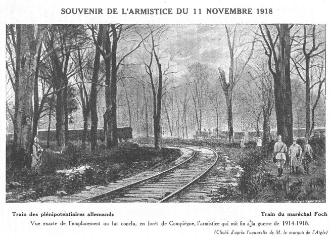 Souvenir de l'armistice du 11 novembre 1918