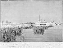 « Fachoda, après l'arrivé du sirdar Kitchener sur les canonnières anglaises », Le Monde illustré du 30 mai 1899