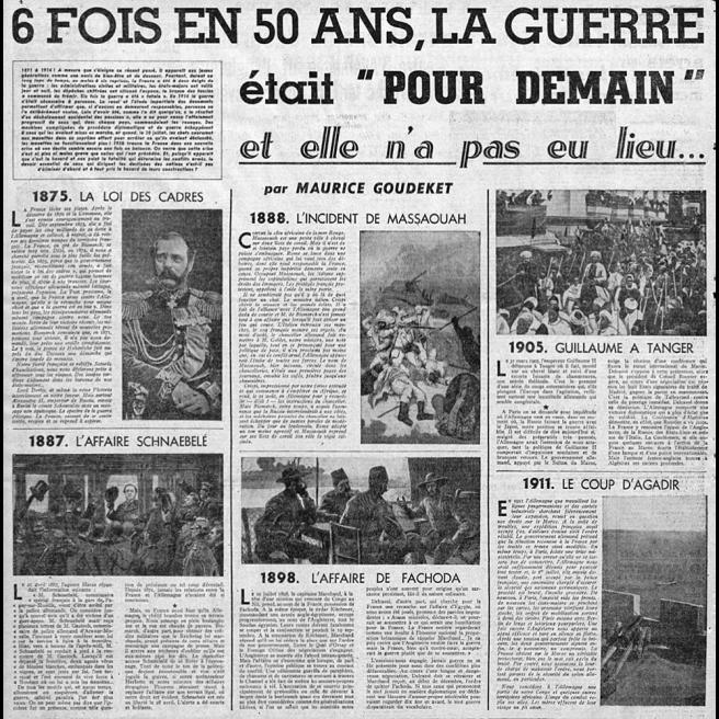 """« 6 fois en 50 ans, la guerre était """"pour demain"""" et elle n'a pas eu lieu »"""