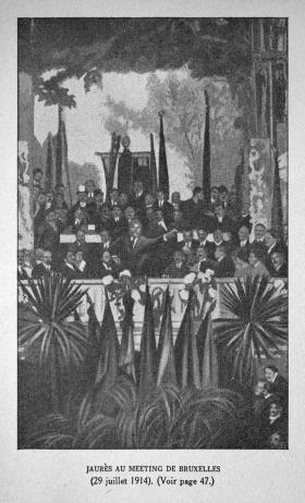 Jaurès au meeting de Bruxelles (29 juillet 1914)