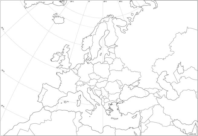 Un fond de carte du continent européen